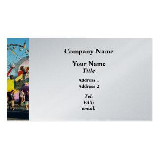 Noria en distancia - platino tarjetas de visita