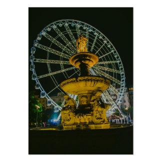 Noria Ojo-Gigante de Budapest en la noche Tarjeta De Visita