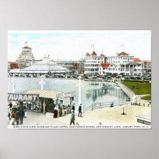 Noria, parque de Asbury, vintage de NJ Poster