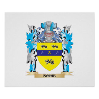 Norie Coat of Arms - Family Crest Poster