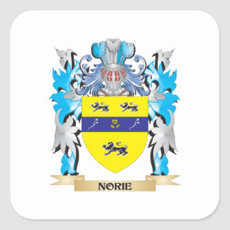 Norie Coat of Arms - Family Crest Square Sticker
