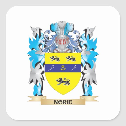 Norie Coat of Arms - Family Crest Stickers