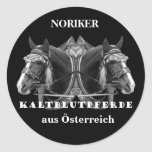 NORIKER of cold blood horses from Austria Sticker