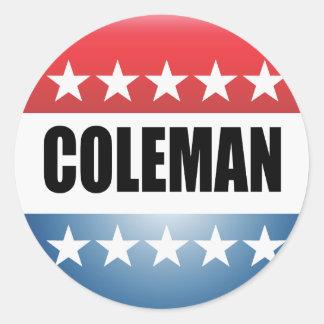 NORM COLEMAN CLASSIC ROUND STICKER