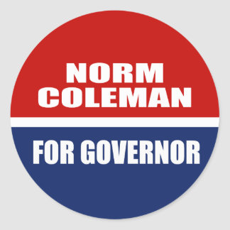 NORM COLEMAN FOR GOVERNOR STICKERS