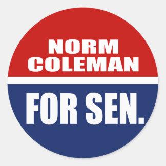 NORM COLEMAN FOR GOVERNOR STICKER