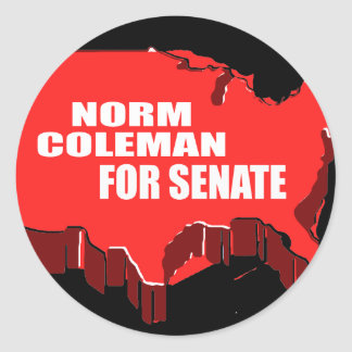 NORM COLEMAN FOR GOVERNOR ROUND STICKERS