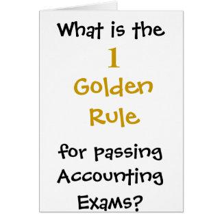 Norma de oro para aprobar los exámenes de la tarjeta de felicitación