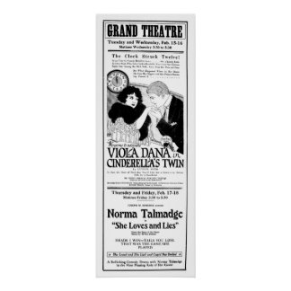 Norma Talmadge 1921 vintage movie ad poster