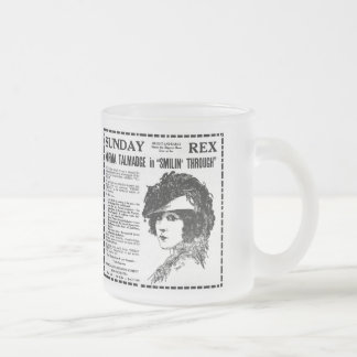 Norma Talmadge 1922 vintage newspaper ad Frosted Glass Coffee Mug