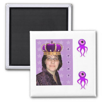 Norma with Purple Squids 2 Inch Square Magnet