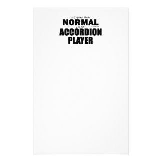 Normal Accordion Player Customized Stationery