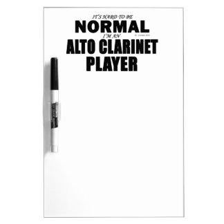 Normal Alto Clarinet Player Dry Erase Whiteboards