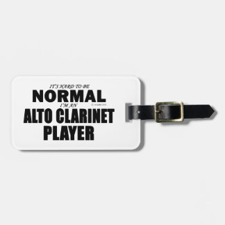 Normal Alto Clarinet Player Luggage Tags