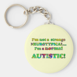 Normal Autistic Keychain