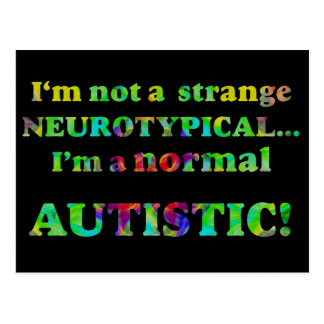 Normal Autistic Postcard