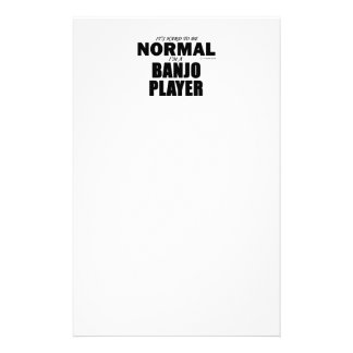 Normal Banjo Player Personalized Stationery
