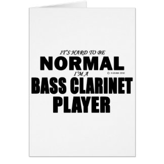 Normal Bass Clarinet Player Card