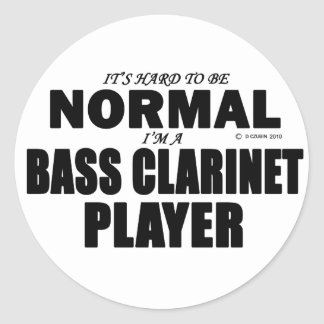 Normal Bass Clarinet Player Classic Round Sticker