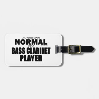 Normal Bass Clarinet Player Luggage Tag