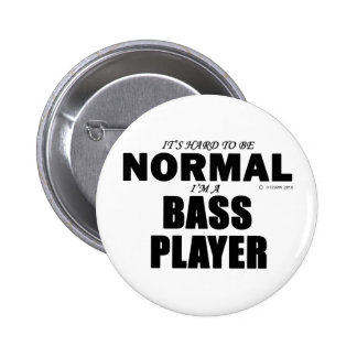 Normal Bass Player 2 Inch Round Button