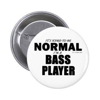 Normal Bass Player Pinback Button
