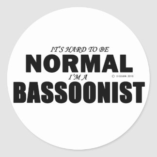 Normal Bassoonist Classic Round Sticker