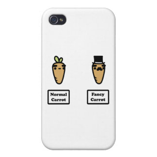 Normal Carrot, Fancy Carrot Case For iPhone 4
