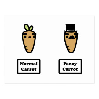Normal Carrot, Fancy Carrot Postcards