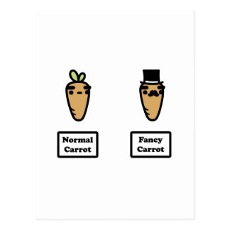 Normal Carrot, Fancy Carrot Postcard