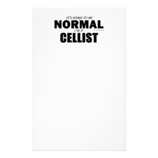 Normal Cellist Personalized Stationery
