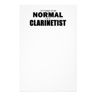 Normal Clarinetist Personalized Stationery
