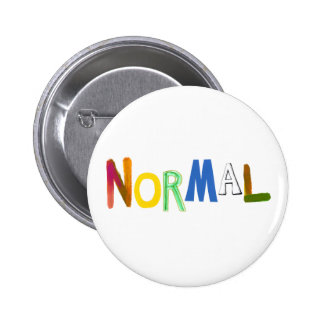 Normal common average regular colorful word art 2 inch round button