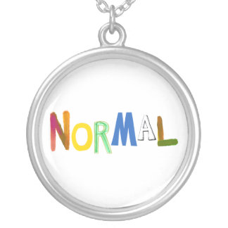 Normal common average regular colorful word art necklace