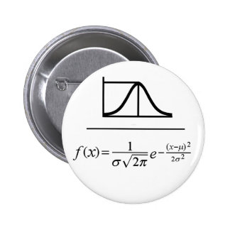 Normal Distribution Pinback Button