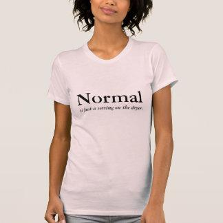 Normal es apenas un ajuste en el secador camisetas