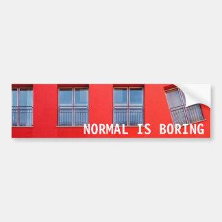 Normal es el pegatina aburrido pegatina para auto