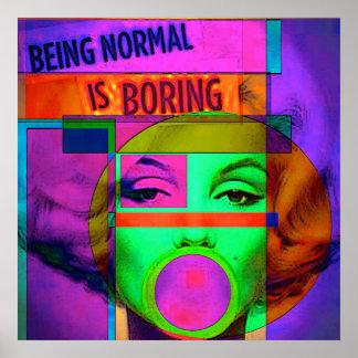 Normal es el poster aburrido