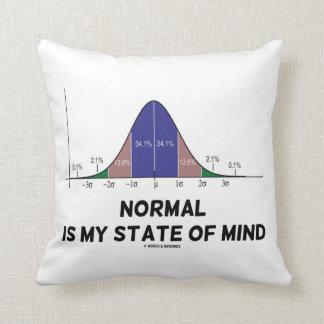 Normal es mi humor del friki de la curva de Bell Cojin
