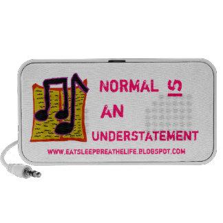 Normal es un altavoz de la subestimación