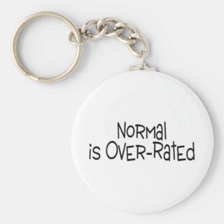 Normal está sobre clasificado llavero personalizado