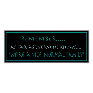 Normal Family Poster