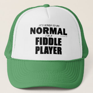 Normal Fiddle Player Trucker Hat