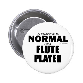 Normal Flute Player Pinback Button