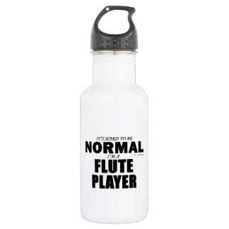 Normal Flute Player Water Bottle