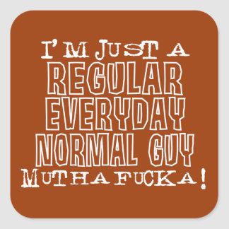 Normal Guy Square Sticker