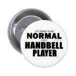 Normal Handbell Player 2 Inch Round Button