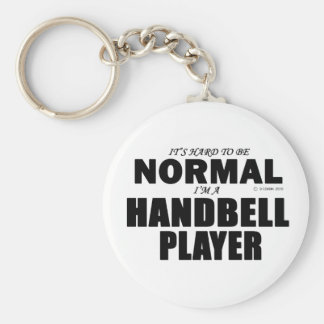 Normal Handbell Player Basic Round Button Keychain