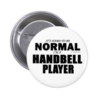 Normal Handbell Player Pinback Button