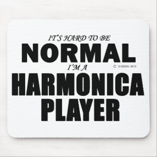 Normal Harmonica Player Mouse Pad
